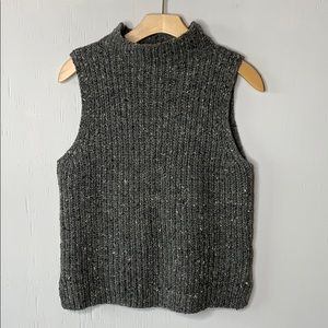 Madewell Landward Sleeveless Knit Wool Sweater